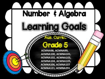Grade 5 All Mathematic Strands Learning Goals & Success Criteria BUNDLED!