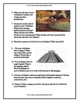 Grade 4 Ancient Civilizations Research Project
