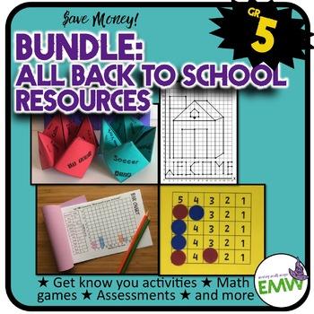 Grade 5: Back to School Math Bundle