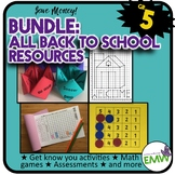 Grade 5: Back to School Math Bundle