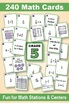 Grade 5 MATH CARD GAMES GALORE BUNDLE: Fraction Operations With Models