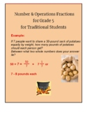 Grade 5- CCS: Numbers/ Operations w/ Fractions for Traditi