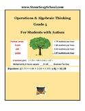 Grade 5, CCS: Operations/Algebraic Thinking, w/Autism Spectrum
