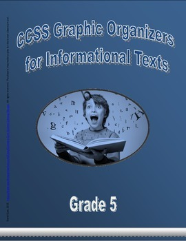 Grade 5 CCSS Graphic Organizers for Informational Texts