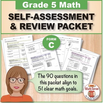 Grade 5 CCSS Math Self-Assessment and Review Packet ~ Form C