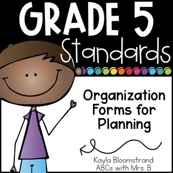 Grade 5 CCSS Recording Forms