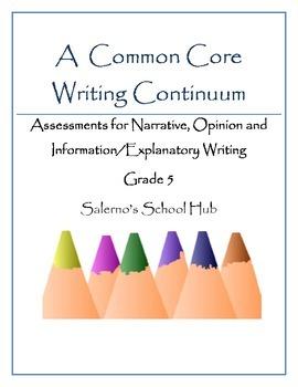 Grade 5 CCSS Writing Continuum