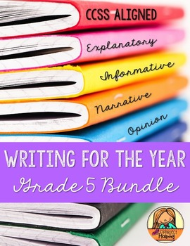 Grade 5 CCSS Writing for the Year BUNDLE: Narrative, Opinion, How-To, & Research