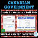 Canadian Government Worksheets - Reading Passages and Acti