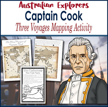 Grade 5 Captain James Cook - 3 Voyages Mapping Activity