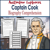 Australian Explorers - Captain James Cook - Biography Comprehension Activity