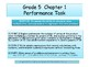 Grade 5 Chapter 1 Performance task as PDF