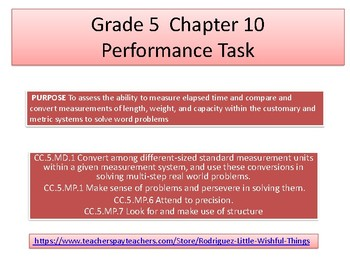 Grade 5 Chapter 10 Performance task as PDF
