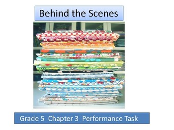 Grade 5 Chapter 3 Performance task as PDF