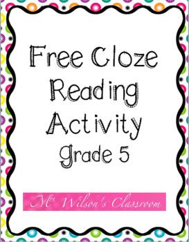 Grade 5 Cloze Activity