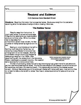 Grade 5 Common Core Assessments: Reasons & Evidence RI.5.4