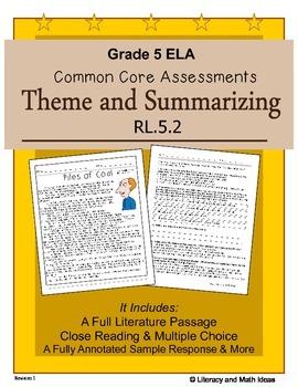 Grade 5 Common Core Assessments: Theme and Summarizing RL.5.2