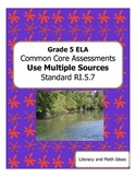Grade 5 Common Core Assessments:  Use Multiple Sources RI.5.7
