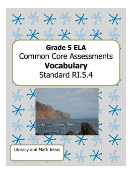 Grade 5 Common Core Assessments: Vocabulary RI.5.4