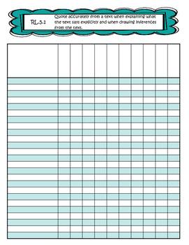 Grade 5 Common Core Gradebook *Editable*