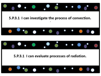 Grade 5 Common Core I Can Statements for Science