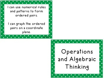 """Fifth Grade Common Core """"I Can"""" Task Cards"""