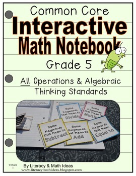 Grade 5 Common Core Interactive Notebook Operations and Algebraic Thinking