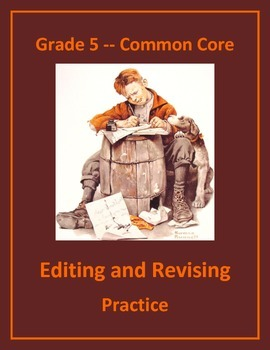 Grade 5 Common Core Language: Editing & Revising Practice Bundle