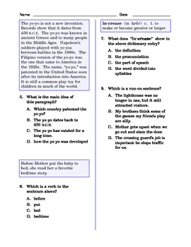 Grade 5 Common Core Language and Writing Practice