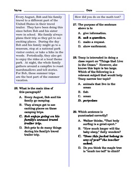 Grade 5 Common Core Language and Writing Practice #6