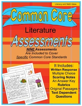 Grade 5 Common Core Literature Assessment Bundle