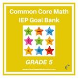 Grade 5 Common Core Math IEP Goal Bank