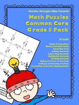 Grade 5 Common Core Math Puzzles