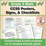 Grade 5 Common Core Math Standards Posters ~ CCSS Overview & Checklists