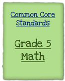 5th Grade Math Assessment for the Common Core Math