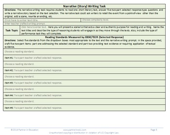 Grade 5: Common Core/PARCC Paired Text Performance Task Template