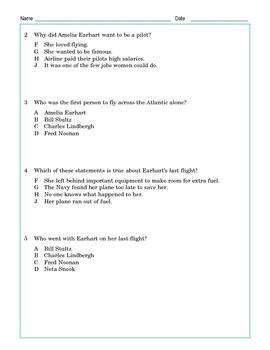 Grade 5 Common Core Reading: Amelia Earhart