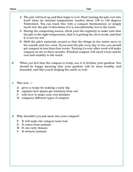 Grade 5 Common Core Reading: Composting