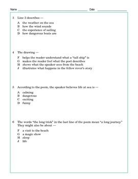 """Grade 5 Common Core Reading: """"Sea Fever"""""""