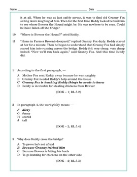 Grade 5 Common Core Reading: The Adventures of Reddy Fox Part 1