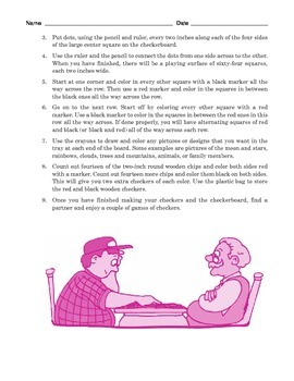 Grade 5 Common Core Reading: Two Passages about Checkerboards