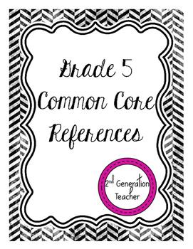 Grade 5 Common Core References