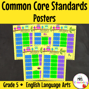 Grade 5 Common Core Standards Posters {English Language Arts} Owl Theme