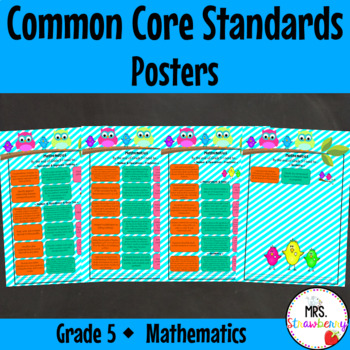 Grade 5 Common Core Standards Posters {Mathematics} Owl Theme