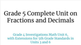 Grade 5 Complete Unit on Fractions and Decimals (Based on Investigations Math)