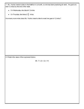 Grade 5 Cumulative Test Review: Relay Race