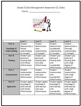 Grade 5 Data Management Assessment REVISED