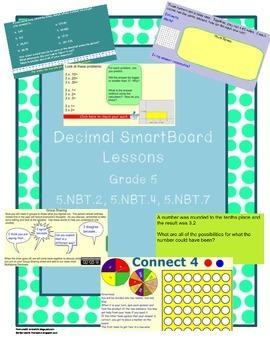 Grade 5 Decimals Smartboard Lessons Pack