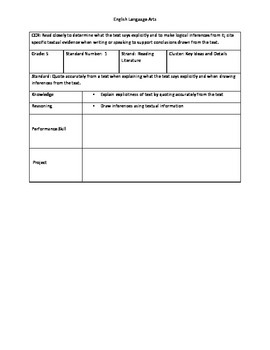 Grade 5 Deconstructed ELA Standards
