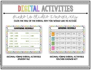 Grade 5 Digital Decimal Forms Activities {5 NBT 3} For use with Google  Slides™
